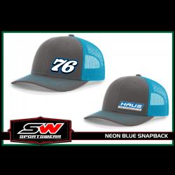 Neon Blue Snapback Hat