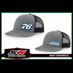 Light Grey Snapback Hat